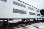The factory building, showing the wall cladding and tranlucent sheeting