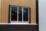 REIDsteel's quality windows set into the building sheeting